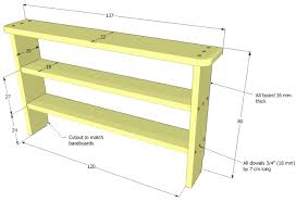 Woodworking Shelf Plans by Low Bookshelf Plans