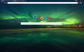 google themes lights free amazing northern lights hd google chrome theme download