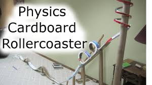 good description of a paper carbdboard roller coaster