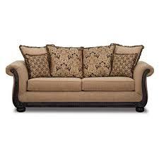 sofa taupe taupe sofa with black wood tri b1 6003 washington furniture afw