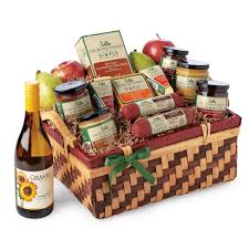 wine and cheese gift baskets hickory farms simply festive gift basket