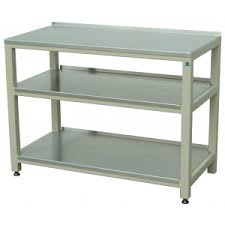 36 by 48 table steel table with two shelves 48 w x 24 d x 36 inch h radiation