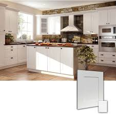 Shaker Kitchen Cabinet Ice White Rta Shaker Style Kitchen Cabinets Wood Birch Finish