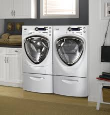 Front Load Washer With Pedestal Ge Profile Series 4 3 Doe Cu Ft Stainless Steel Capacity
