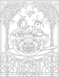 design coloring pages creative haven alice in wonderland designs coloring book dover