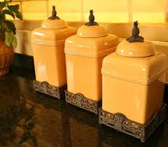 vintage kitchen canisters vintage yellow plastic canister set toile ceramic leopard print