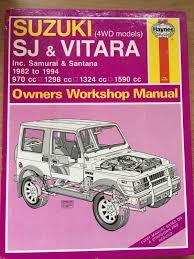 suzuki sj u0026 vitara 4wd 1982 1994 haynes manual u2022 9 99 picclick uk