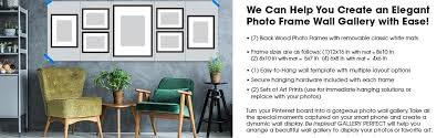 amazon com gallery perfect 7 piece black photo frame wall