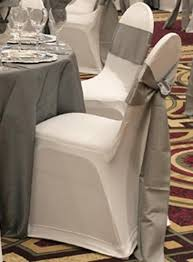 silver chair covers silver chair ties maybe silver underskirt for black sparkly table