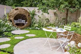 Australian Backyard Ideas Australian Backyard Garden Designs With Willow Bird Nest Seating