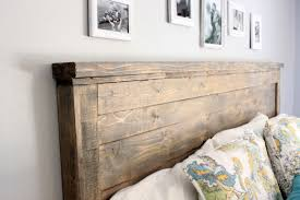 make your own wood headboard home design