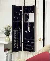 jewelry box wall mounted cabinet amazon com plaza astoria wall door mount jewelry armoire black