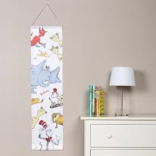 Dr Seuss Nursery Wall Decals by Amazon Com Trend Lab Dr Seuss Friends Canvas Growth Chart Blue