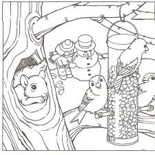 coloring pages free coloring pages of winter winter scene