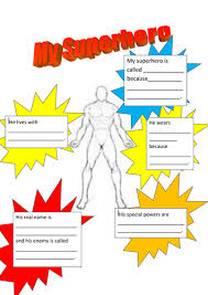 superheroes describing characters by alclapham teaching