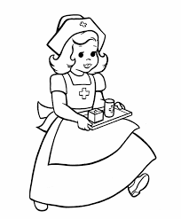 nurse coloring pages kids coloring