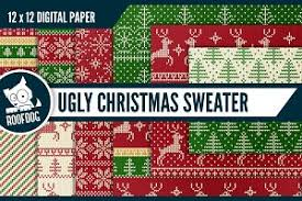 ugly christmas sweater photos graphics fonts themes templates