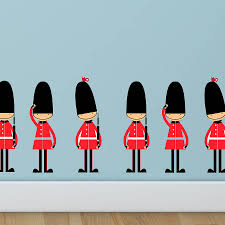 london wall art stickers shenra com queens guards toy soldier wall stickers by parkins interiors