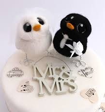 and groom wedding cake toppers and groom owl wedding cake topper
