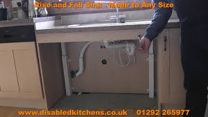 How To Measure For A Kitchen Sink by Rise And Fall Sink Rise And Fall Kitchen Sink Unit Youtube