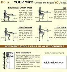 kitchen island stool height chair height to table height and width guide how to choose chairs