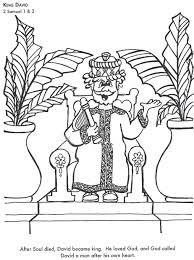 king david bible coloring kids learn bible stories