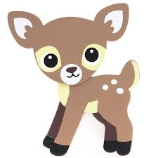 finished baby fawn deer wood cutout wood cutouts unfinished