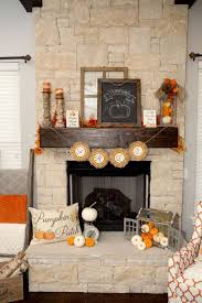 Pinterest Fall Decorations For The Home Fall Fireplace Decor Fireplace Living