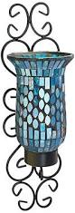 Glass Wall Sconce Candle Holder Amazon Com American Atelier Mosaic Glass And Metal Wall Lighting