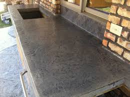 Outdoor Kitchen With Concrete Countertops 8 Steps With Picture by Concrete Countertops Stamped Concrete Countertop Desert Slate