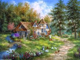 Thomas Kinkade Clocktower Cottage by Dennis Lewan Güzellikler Pinterest Thomas Kinkade Paintings