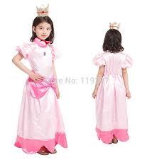 Girls Princess Halloween Costumes Cheap Princess Peach Costume Child Aliexpress