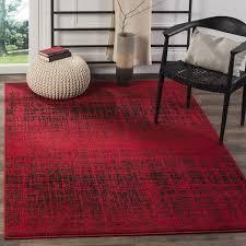 Safavieh Furniture Outlet Store Safavieh Adirondack Modern Abstract Red Black Rug 5 U00271 X 7 U00276