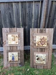 Patio Decor by Diy Nautical Patio Decor Made Out Old Fence Post Decorative Tile