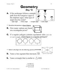 Volume Of Rectangular Prism Worksheet 3d Shapes Worksheets 1st Grade 4th Best Images Of Light And First