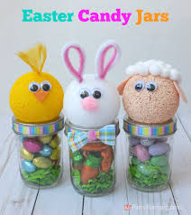 easter bunny candy easter candy jars party pinching