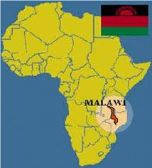 africa map malawi map of africa showing malawi