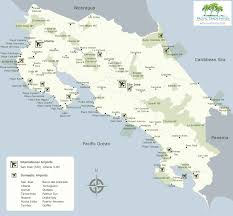 San Jose Costa Rica Map by Where Are The Airports In Costa Rica