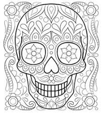 free sugar skull coloring printable dead coloring