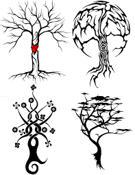 tree and moon designs tribal trees by gravityglitch on