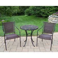 Lowes Wrought Iron Patio Furniture by Shop Oakland Living Stone Art 3 Piece Stone Bistro Patio Dining