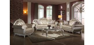 traditional living room set pearl color leather traditional living room set 652