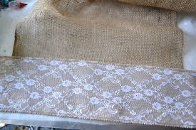 Burlap Lace Table Runner No Sew Table Runner I Am A Homemaker