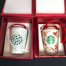125 starbucks swarovski ornaments 2014 2013 limited