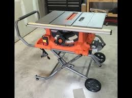 ridgid table saw miter gauge rigid table saw r4513 youtube