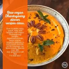 vegan thanksgiving dinner recipes class chicago estonian house
