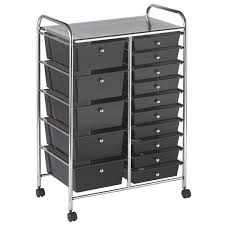 Rolling Metal Cabinet 15 Drawer Mobile Organizer Calloway House