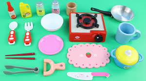 learn kitchen item names with toy play set u2013 educational for kids