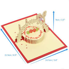 Sport Invitation Card Handcrafted Stereo 3d Pop Up Cake Greeting Card Birthday Wedding