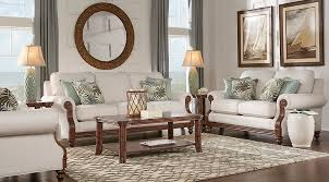 Rooms To Go Living Room Set Cindy Crawford Home Coconut Bay Ivory 7 Pc Living Room Living